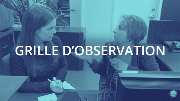 Document : Transmission de l'information et des directives 1 – Grille d'observation